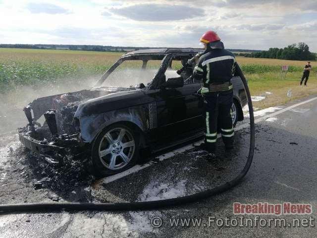 8 серпня о 16:32 до Служби порятунку «101» надійшло повідомлення про пожежу біля с. Івангород Олександрівського району.