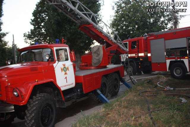 Ліквідація пожежі в центрі Кропивницького