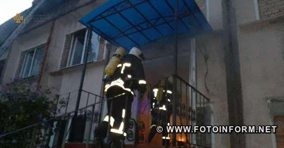 загорілася двоповерхова офісна будівля