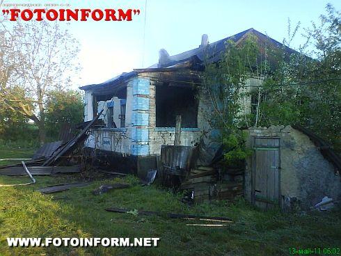 В Новоукраинском районе двое мужчин погибли на пожаре (фото)